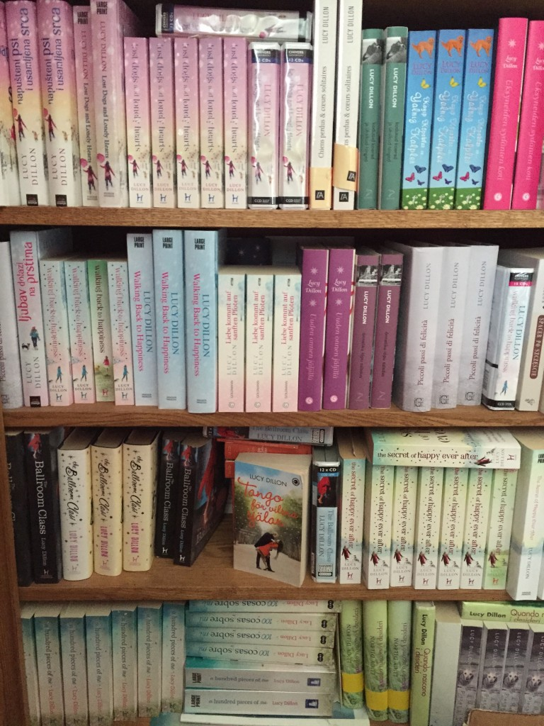 some of the translation editions on my bookshelves!